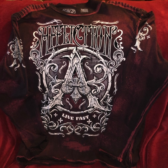 AFFLICTION Other - AFFLICTION 'LIVE FAST' SHIRT